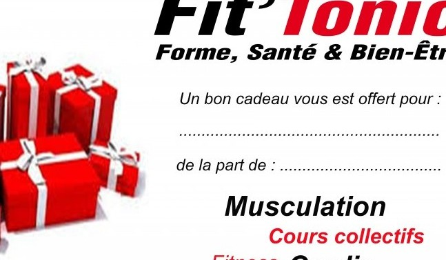 bons cadeaux f te des p res salle de sport aix en provence fit tonic. Black Bedroom Furniture Sets. Home Design Ideas